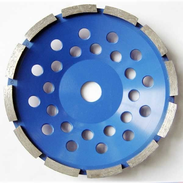 Segment Diamond Cup Grinding Disc Single Row , Diamond Cutting Wheels Blue Color